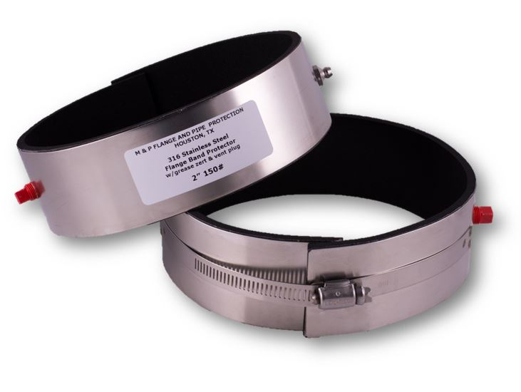Flange protector bands corrosion protection